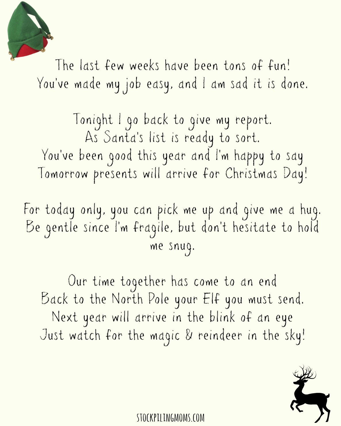 Search Results For Goodbye Letter From Elf On The Shelf