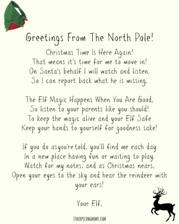 elf on a shelf welcome letter printable stockpiling moms elf on the shelf