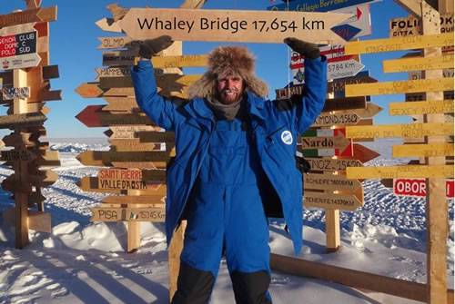 Alexander Kumar in Antarctica