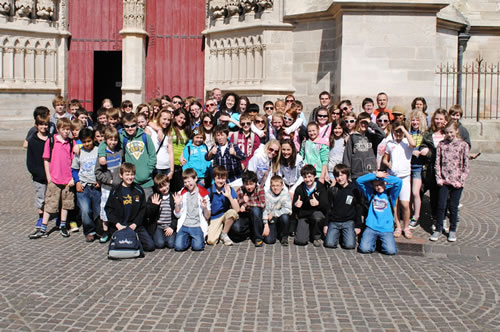 First Year pupils on residential in France