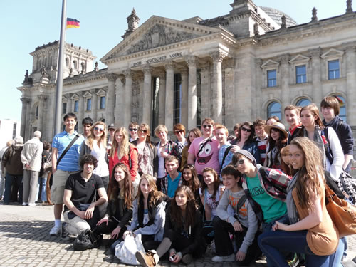 History pupils in Germany
