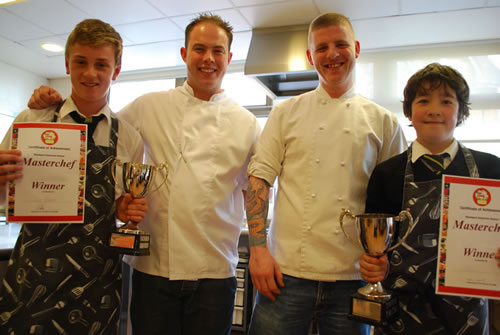 Masterchef winners with chefs from Grill on the Edge