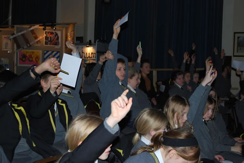 Pupils during Holocaust memorial day