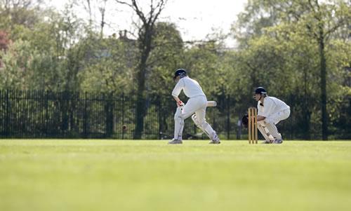 Pupils playing cricket