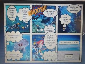 Cartoon strip artwork created on an iPad