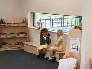 Nursery pupils in viewing corner