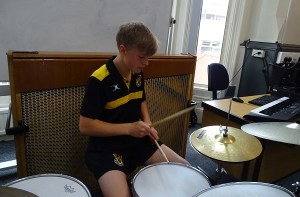 Drums entry for the Vernon Talent Show 2021
