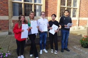 Fifth Year pupils receive their GCSE results