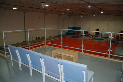 The viewing gallery with a clear view of the whole gym