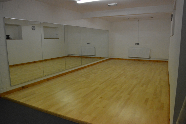 Small Dance Studio with sprung floor, full length mirrors, ballet barres and music system added in August 2014