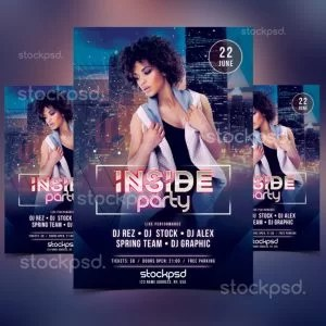 insisde-party-free-psd-flyer