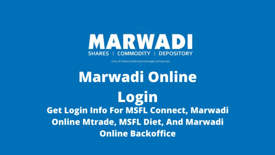 Marwadi Online Login