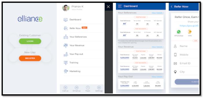 Edelweiss Elliance Partner app Screenshot