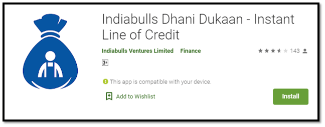 Indiabulls Dhani Dukaan – Instant Line of Credit
