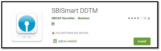 SBISMART DDTM App