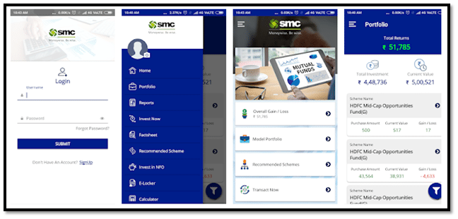 SMC EasyInvest App Interface