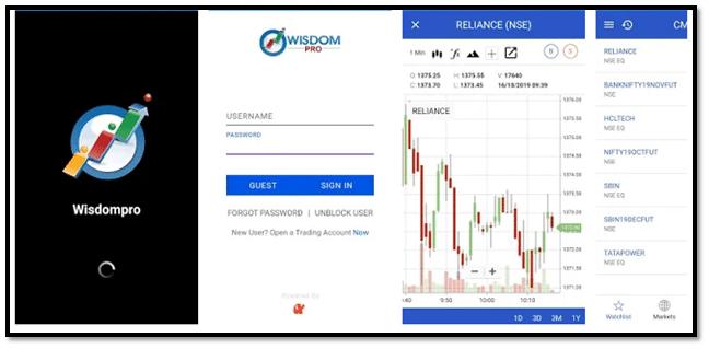 Wisdom Pro – Mobile Trading App Login Interface