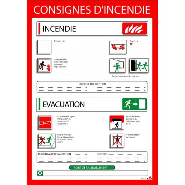 Consignes DIncendie Avec Cadre Stocksignes
