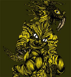 vector Demon Animal T-shirt GraphicsDesign