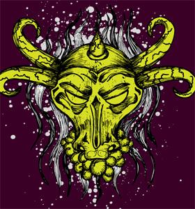 Vector T-shirt Design with Bull Head
