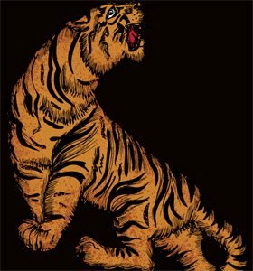 Vector T-shirt Illustration with Tiger