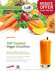 Dr. Smoothie 2014 Rebate Veggie Smoothies
