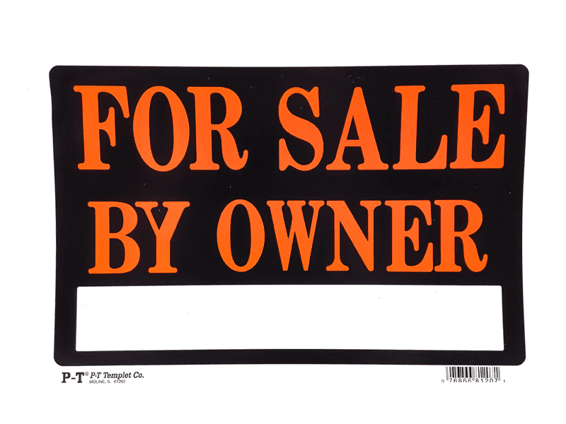 PT Templet For Sale By Owner Sign - Stock Up Market