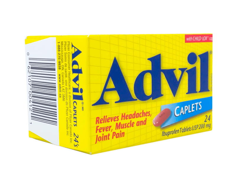 Advil Ibuprofen 200 mg (24 Caplets)