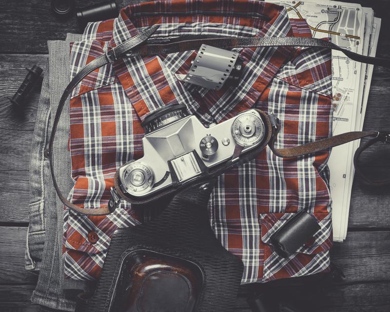 Plaid Shirt and Camera