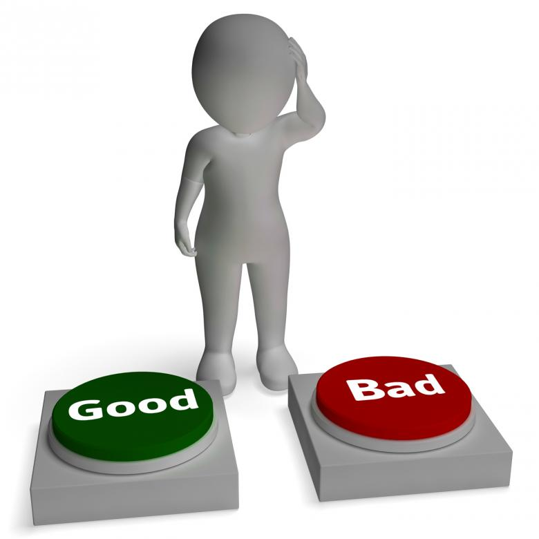 Free Stock Photo of Good Bad Buttons Shows Approve Or Reject Created by Stuart Miles