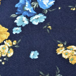 Alpensweat Denim Flower Marine