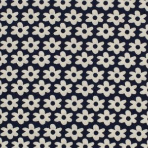 Baumwolle Flower blue-white