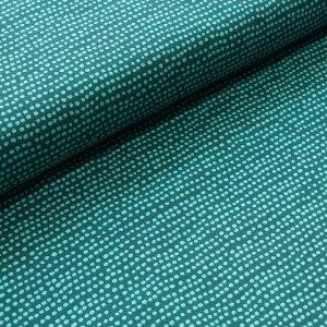 Stoffonkel Biojersey Dotted Line - smaragd
