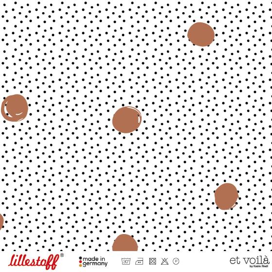 Lillestoff Waffel Dots, caramel