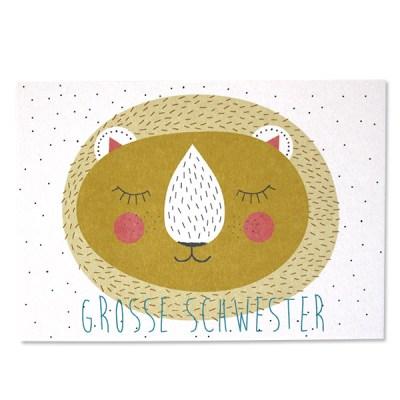 Stofftiger, Ava & Yves, Postkarte, Grußkarte, Karte, Glückwunschkarte, Klappkarte, Karte zur Geburt, Geburtskarte, Geburtsgeschenk, Glückwünsche