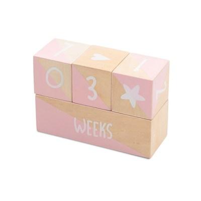 Meilenstein Blöcke rosa, Jollein, Meilensteinbilder, Meilensteine, Milestone, Baby Photography, Newborn Photography, Stofftiger