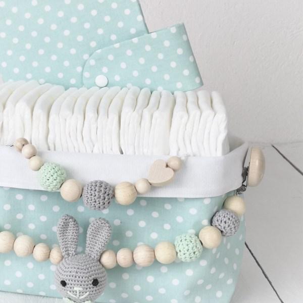 Geschenkkörbchen zum selbst zusammenstellen, Geschenkkorb Kinderwagenkette Schnullerkette Geburtsgeschenk Geschenkidee Geburt