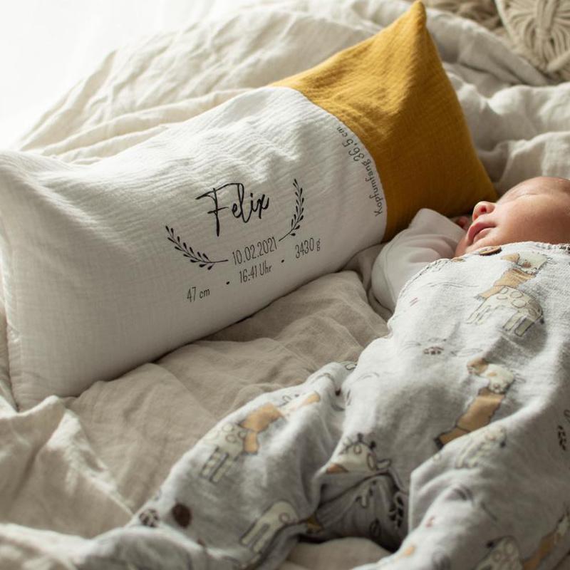 Geburtskissen mit Gewicht, Geburtskissen mit Echtmaßen, Taufgeschenk, Geburtsgeschenk, Geschenk zur Geburt, Geschenk zur Taufe, Baby, Geschenkidee, Geburt, Taufe, Neugeborenes, Babygeschenk, Personalisiertes Kissen, Personalisiert, Jungen, Mädchen, Buben