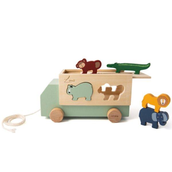 Holzbus, Lkw, Holzspielzeug, Spielzeug, Regenbogen, Motorikspielzeug, Babyspielzeug, Little Dutch, Geschenke für Kinder, Babygeschenke,