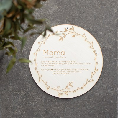 Holzschild Muttertag, Mama, Alltagsheldin, Supermama, Geschenk zum Muttertag, Muttertagsgeschenk, Mama, Lieblingsmama, Supermom, Holzschild personalisiert, Gravur