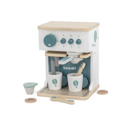 Espresso Maschine, Kaffeemaschine, Kaffee, Espresso, Holzspielzeug, Kinderspielzeug, personalisiertes Spielzeug, personalisiert, Geschenk, Geschenkidee, Stofftiger