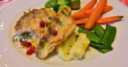 gesundes Essen - Fisch und Gemüse