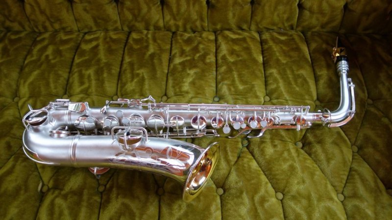 "Conn 8M C-Melody with ""Naked Lady"" engraving, overhauled by me."