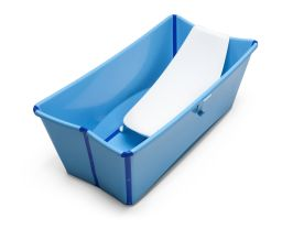 Bath tub, Blue. Asccessorised with Newborn Support.