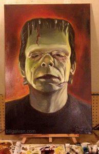 Frankenstein Oil Painting