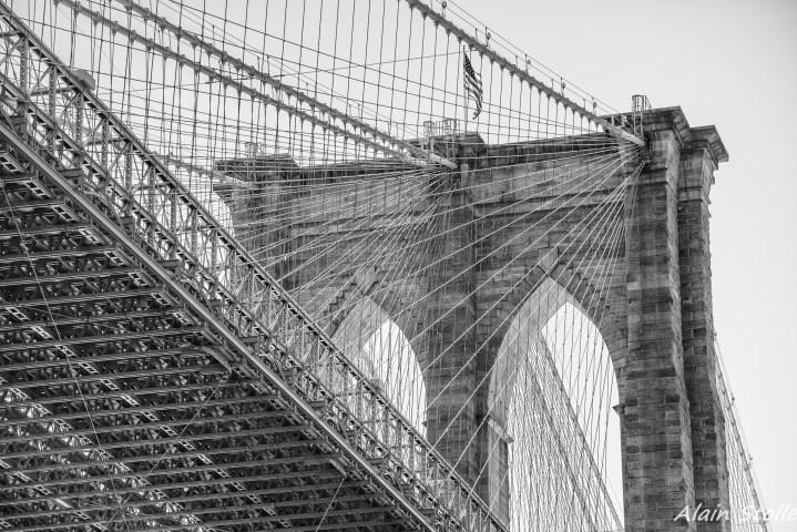 {015} Brooklyn Bridge - New-York / 1870
