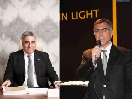 Mehmet Ozer, Vorsitzender des Verbands (auf unserem Foto links), und Erdogan Akbulak, Chef der Firmen Akdo und Silkar (rechts).