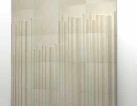 """""""Organo"""" é como os designers do Zaven batizaram esse projeto: trata-se de 3 revestimentos em superfície 3D..."""