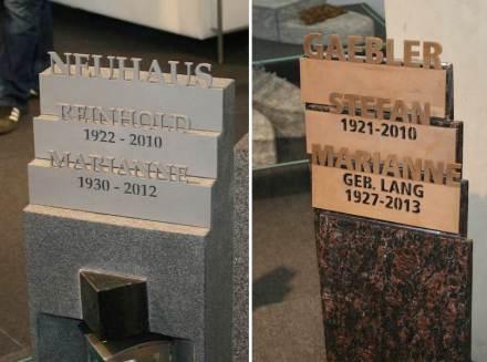 Diverse varianti sono state presentate da Strassacker, per esempio dei nomi che stanno in gradini uno dietro l'altro.