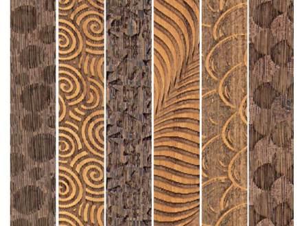 I listelli sono inoltre disponibili con varie lavorazioni con un laser e con diversi tipi di legno.